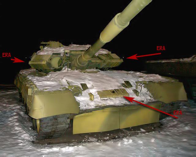 T-80U mit ERA-Panzerung