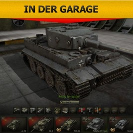 World of Tanks - Tiger in der Garage
